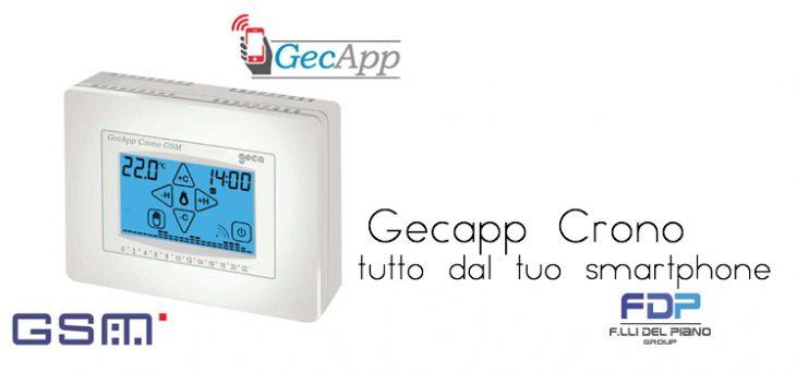 Il Cronotermostato che usi dal tuo smartphone Gecapp